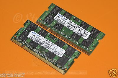 2GB DDR2 (1GB x2) Laptop Memory for Dell Latitude D620 D630 D820 Notebooks