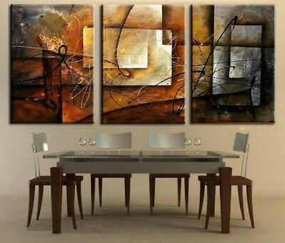 3pieces modern abstract huge wall art oil painting on canvas no frame A592
