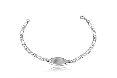 Genuine Little Girls Baby Child Sterling Silver 925 ID Bracelet Engraveable