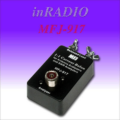 MFJ-917 - BAL. LINE ADAPTOR, BAL TO UNBAL, 1.8-30MHz - FAST & FREE DELIVERY!