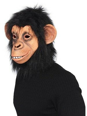 Adult Unisex Full Overhead Chimp Mask Smiffys Party Animals Fancy Dress