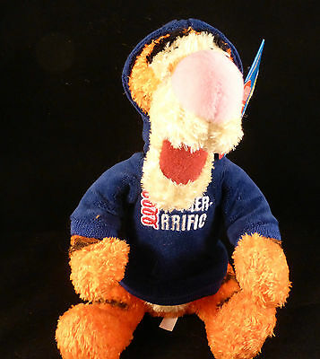 """Official Disney Plush / Cuddly Toy Tigger in Cool Hoodie BNWT (approx 10"""")"""