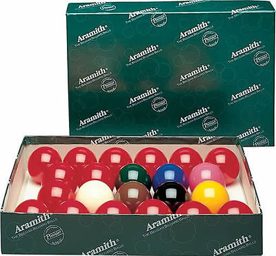 Belgian Aramith Premier Snooker Balls 2 1/4 inch - No Numbers - FREE US SHIPPING
