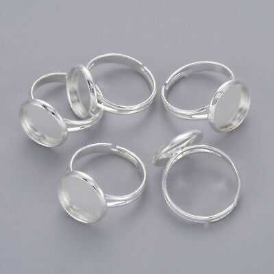 5pcs Brass Ring Components DIY Jewelry finding Making Crafting Silver X-J2673062