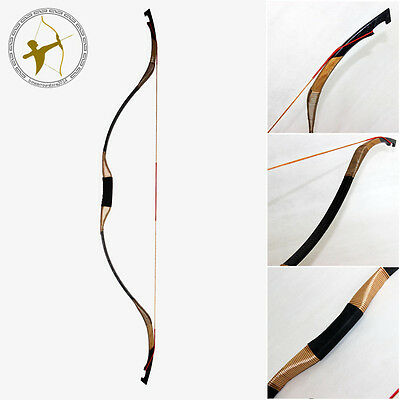 Cool 35LBS@28'' Archery Traditional Hunting Shooting Snakeskin Recurve Long bow