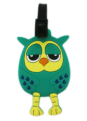 Brand New OWL Name Tag for Backpack Luggage Bag x 1 # 002 Blue