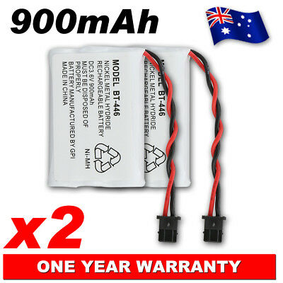2 X Uniden Bt446 Cordless Phone Replacement Battery 900Mah 3.6V Oz