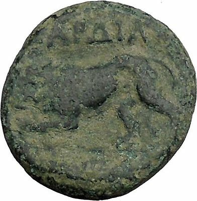 Kardia in Thrace 350BC Ancient Greek Coin Lion Demeter Earth fertility  i44213