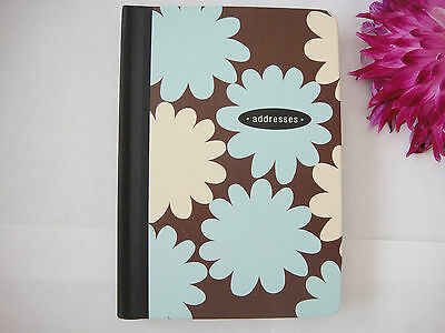 Hallmark  Address Telephone Email Book Brown With Large Flowers  Brand New