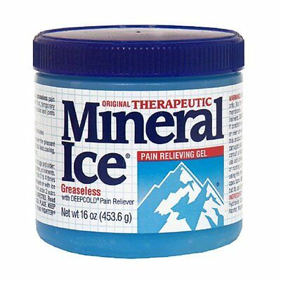 Mineral Ice Topical Analgesic Pain Reliving Gel 16 Oz