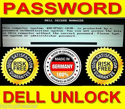 Dell 1F66 Latitude ALL Bios Password Secure Manager Removal Unlock Passwor TOP