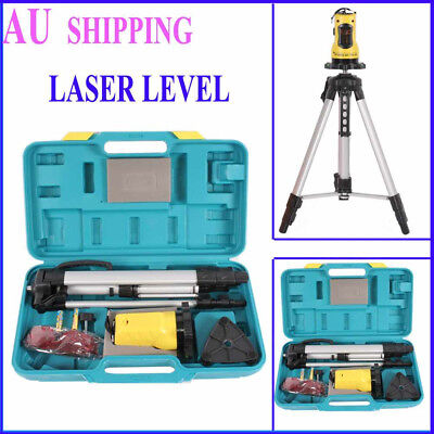 Rotary Laser Level Kit Cross Line 360 Rotating PRO Self Leveling Activation