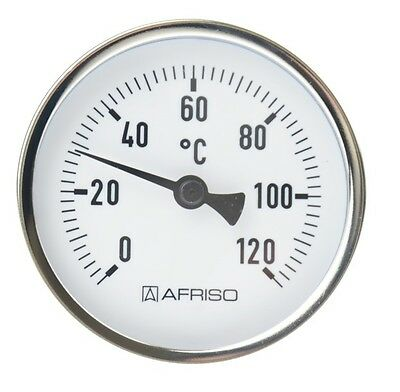 """Afriso Bimetall Thermometer Zeigerthermometer 0°C - 120°C inkl Tauchhülse 1/2 """""""