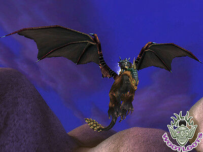 Mottled Drake Loot Card Epic World of Warcraft Flying Mount WoW TCG Green Spots