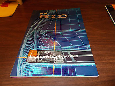 """1987 SAAB 9000 """"Engineering Features"""" 106-page Catalog"""