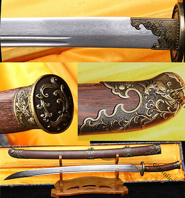 """38"""" SHARP FOLDED STEEL ROSEWOOD QUALITY CHINESE SWORD FULL TANG BLADE"""