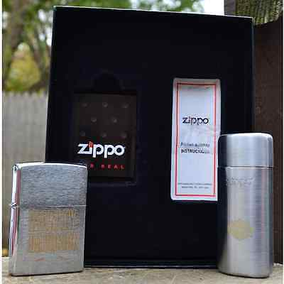 2007 Harley Davidson Zippo Lighter with Ashtray Gift Set - Rare Dealer Exclusive