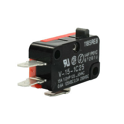 V-15-1C25 AC 250V 15A Micro Limit Switch Button SPDT Self Reset Snap Action
