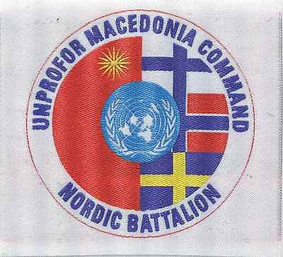 UNPROFOR:Macedonia Command.Nordic Battalion. 90 mm. 1 Stück