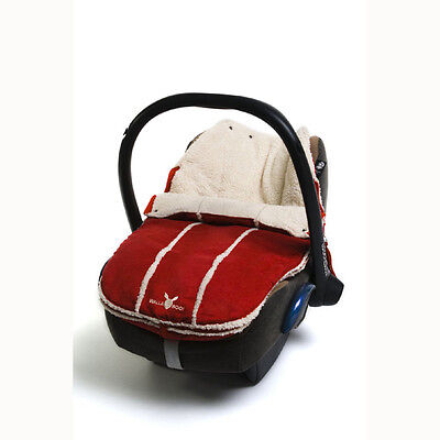 New Wallaboo Newborn Footmuff - Car Seat/Pram Liner - Warm Red - 0-12 months