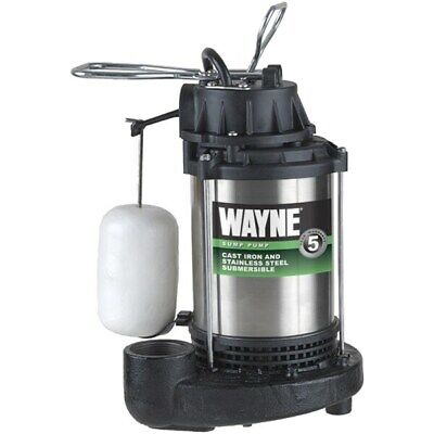 Wayne CDU980E - 3/4 HP Stainless Steel Cast Iron Submersible Sump Pump w/ Ver...