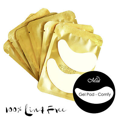 (25~300 pcs) Comfy Curved Gel Eye Pad Patch Eyelash Extension Lint Free