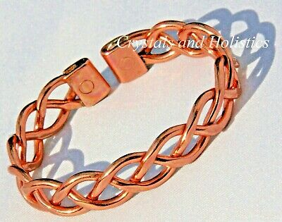 MAGNETIC Solid Copper HEAVY LACE Bracelet Bangle Healing Relief Arthritis ( M26)