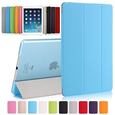 ★Ultra-Slim Apple iPad Air 2 Schutz Hülle+Folie Tasche Smart Cover Case Etui 10