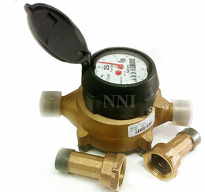 "5/8"" x 3/4"" Water Meter US Gallon,  Recordall Disc Series with Meter Couplings"