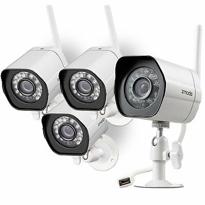 Zmodo 1080P Mini 4CH PoE NVR Security System with 4 1.0MP Outdoor IP Cameras 1TB