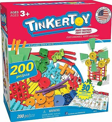 Tinkertoy 30 Model, 200 Piece, Super Building Set Ages 3+, NEW
