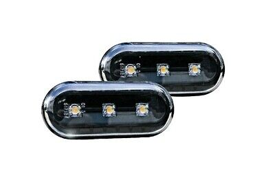 Seat Ibiza Cordoba Alhambra Toledo Leon Altea Black LED Side Indicators Repeater
