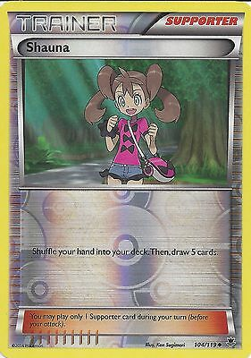 Pokemon Xy Phantom Forces - Shauna 104/119 Rev Holo Trainer Card