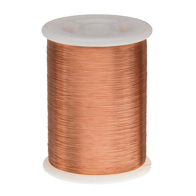"41 AWG Gauge Enameled Copper Magnet Wire 1.0 lbs 40718' Length 0.0030"" 155C Nat."