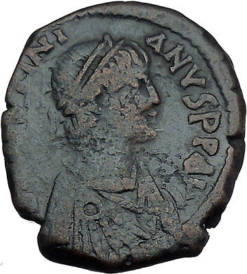 JUSTINIAN I 527AD Follis of Antioch Theoupolis Ancient Byzantine Coin i44175