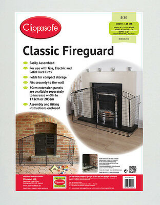 Clippasafe Classic Fire Guard Baby Child Kids Home Fire Safety BNIB