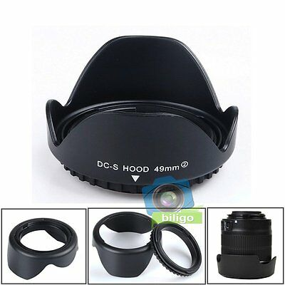 49mm Reversible Petal Flower Lens Hood For Canon Nikon Sony Olympus Camera 【US】