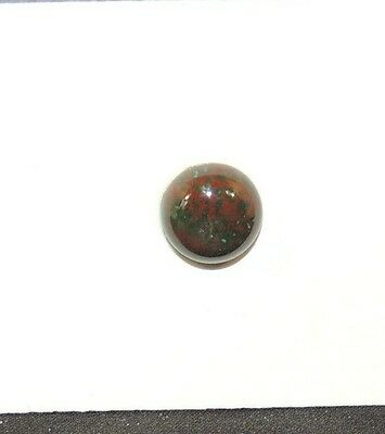 Bloodstone Cabochon 10mm with 4mm Dome from India  (7972)