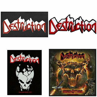 Destruction Sew On Patch/Patches NEW OFFICIAL. Choice of 4 designs