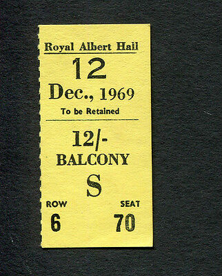 1969 Moody Blues concert ticket stub Royal Albert Hall UK Nights In White Satin