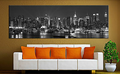 New York City Skyline Canvas Print Wall Art Black White Decor Picture Prints & NEW YORK CITY Skyline Canvas Print Wall Art Black White Decor ...