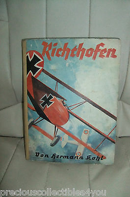 Wwi German Book In Memory Of Richthofen - King Of The Air Red Baron Photo Sanke
