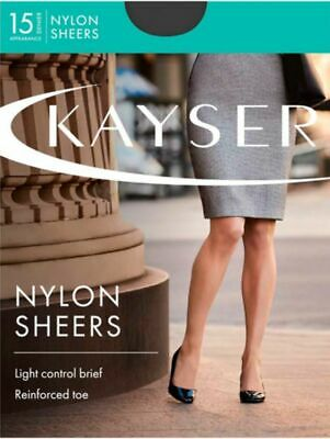 Kayser Sheer Nylon Pantyhose 15 Denier Sheer Matt Leg Control Brief Cotton Blend