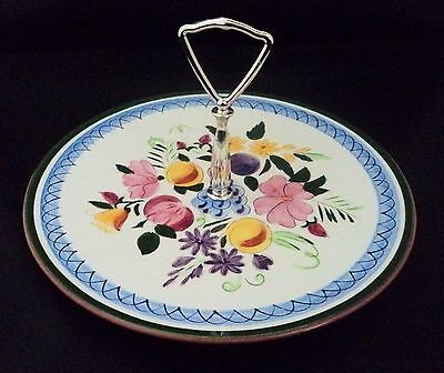 Stangl Art Pottery Fruit and Flowers Pattern Tidbit Tray China Dinnerware