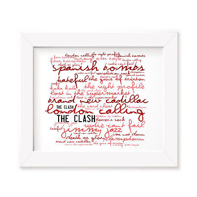 `Zephyr` THE CLASH Art Print Typography Album Song Lyrics Signed Wall Poster