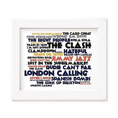 `Cadence` THE CLASH Art Print Typography Album Song Lyrics Signed Wall Poster
