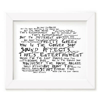 The Jam Poster Print - Sound Affects - Lyrics Gift Signed Art
