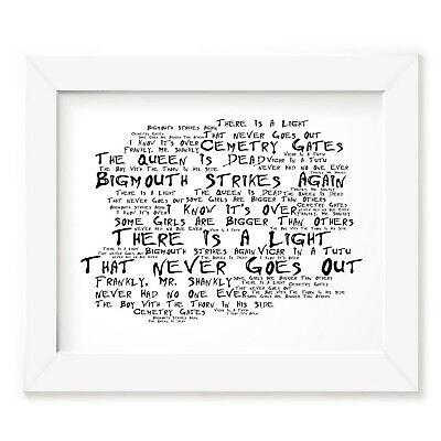The Smiths Poster Print - The Queen is Dead - Lyrics Gift Signed Art