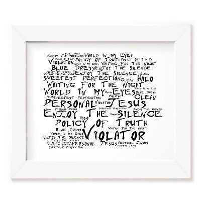 `Noir Paranoic` DEPECHE MODE Art Print Typography Song Lyrics Signed Wall Poster
