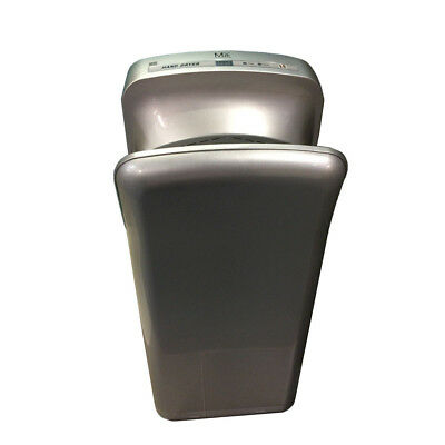 Automatic Jet Hand Dryer Silver Brushless Motor Wall Mounted Commercial Bathroom